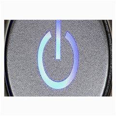 Close Up Of A Power Button Large Glasses Cloth