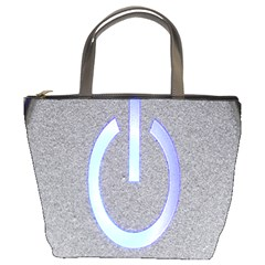 Close Up Of A Power Button Bucket Bags