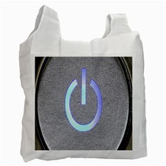 Close Up Of A Power Button Recycle Bag (Two Side)