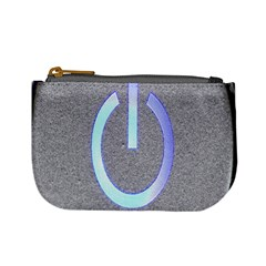 Close Up Of A Power Button Mini Coin Purses