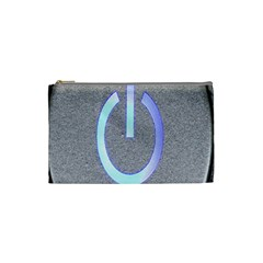 Close Up Of A Power Button Cosmetic Bag (Small)