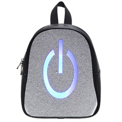 Close Up Of A Power Button School Bags (Small)