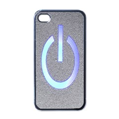 Close Up Of A Power Button Apple iPhone 4 Case (Black)