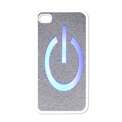 Close Up Of A Power Button Apple iPhone 4 Case (White)
