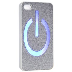 Close Up Of A Power Button Apple Iphone 4/4s Seamless Case (white)