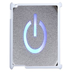 Close Up Of A Power Button Apple iPad 2 Case (White)