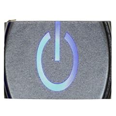 Close Up Of A Power Button Cosmetic Bag (xxl)