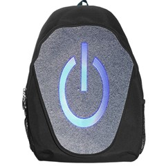 Close Up Of A Power Button Backpack Bag