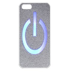 Close Up Of A Power Button Apple Iphone 5 Seamless Case (white)