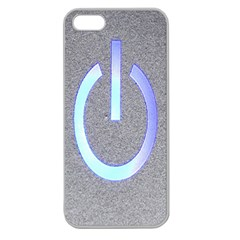 Close Up Of A Power Button Apple Seamless iPhone 5 Case (Clear)