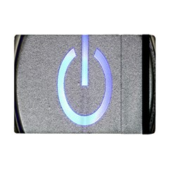 Close Up Of A Power Button Apple iPad Mini Flip Case