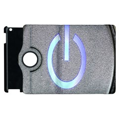 Close Up Of A Power Button Apple Ipad 3/4 Flip 360 Case