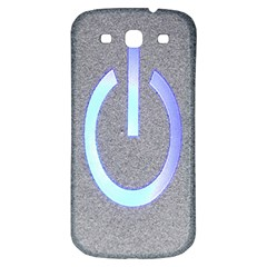 Close Up Of A Power Button Samsung Galaxy S3 S III Classic Hardshell Back Case