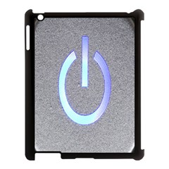 Close Up Of A Power Button Apple iPad 3/4 Case (Black)