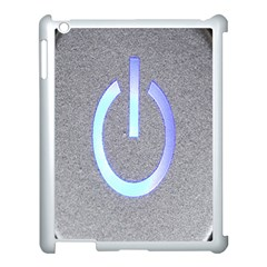 Close Up Of A Power Button Apple Ipad 3/4 Case (white)