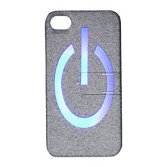 Close Up Of A Power Button Apple Iphone 4/4s Hardshell Case With Stand