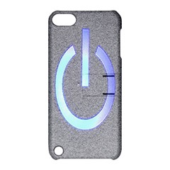 Close Up Of A Power Button Apple Ipod Touch 5 Hardshell Case With Stand