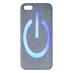 Close Up Of A Power Button Apple Iphone 5 Premium Hardshell Case