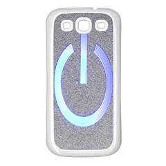 Close Up Of A Power Button Samsung Galaxy S3 Back Case (white)