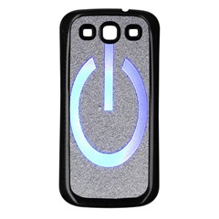 Close Up Of A Power Button Samsung Galaxy S3 Back Case (black)