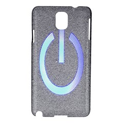 Close Up Of A Power Button Samsung Galaxy Note 3 N9005 Hardshell Case