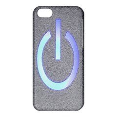Close Up Of A Power Button Apple Iphone 5c Hardshell Case