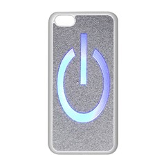 Close Up Of A Power Button Apple Iphone 5c Seamless Case (white)