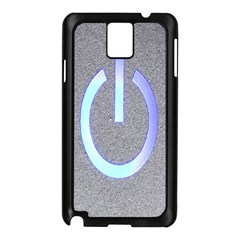 Close Up Of A Power Button Samsung Galaxy Note 3 N9005 Case (Black)