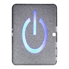 Close Up Of A Power Button Samsung Galaxy Tab 4 (10.1 ) Hardshell Case
