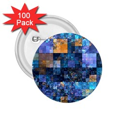 Blue Squares Abstract Background Of Blue And Purple Squares 2.25  Buttons (100 pack)
