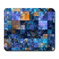 Blue Squares Abstract Background Of Blue And Purple Squares Large Mousepads