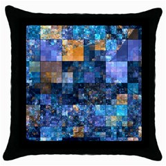 Blue Squares Abstract Background Of Blue And Purple Squares Throw Pillow Case (Black)