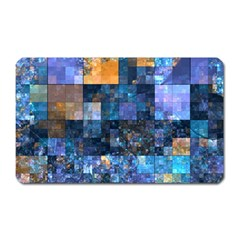 Blue Squares Abstract Background Of Blue And Purple Squares Magnet (Rectangular)