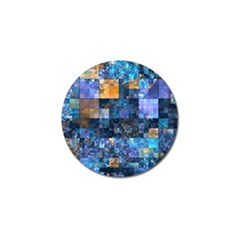Blue Squares Abstract Background Of Blue And Purple Squares Golf Ball Marker