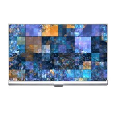 Blue Squares Abstract Background Of Blue And Purple Squares Business Card Holders