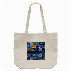 Blue Squares Abstract Background Of Blue And Purple Squares Tote Bag (Cream)