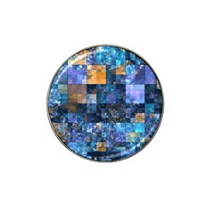 Blue Squares Abstract Background Of Blue And Purple Squares Hat Clip Ball Marker