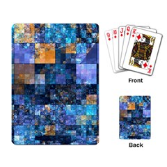 Blue Squares Abstract Background Of Blue And Purple Squares Playing Card