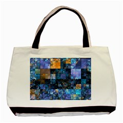 Blue Squares Abstract Background Of Blue And Purple Squares Basic Tote Bag