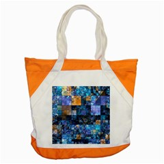 Blue Squares Abstract Background Of Blue And Purple Squares Accent Tote Bag