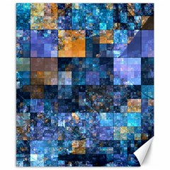 Blue Squares Abstract Background Of Blue And Purple Squares Canvas 8  X 10