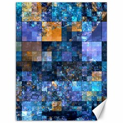 Blue Squares Abstract Background Of Blue And Purple Squares Canvas 12  x 16