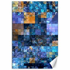Blue Squares Abstract Background Of Blue And Purple Squares Canvas 12  x 18