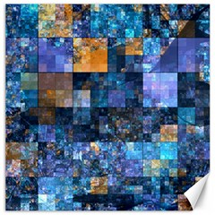 Blue Squares Abstract Background Of Blue And Purple Squares Canvas 16  x 16