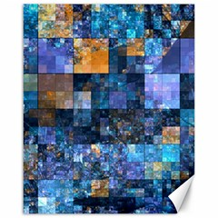 Blue Squares Abstract Background Of Blue And Purple Squares Canvas 16  x 20