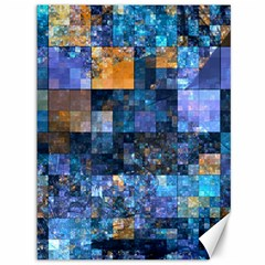 Blue Squares Abstract Background Of Blue And Purple Squares Canvas 36  x 48