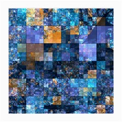 Blue Squares Abstract Background Of Blue And Purple Squares Medium Glasses Cloth (2-Side)