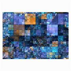 Blue Squares Abstract Background Of Blue And Purple Squares Large Glasses Cloth (2-Side)