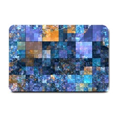 Blue Squares Abstract Background Of Blue And Purple Squares Small Doormat
