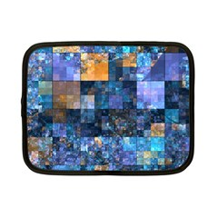 Blue Squares Abstract Background Of Blue And Purple Squares Netbook Case (small)